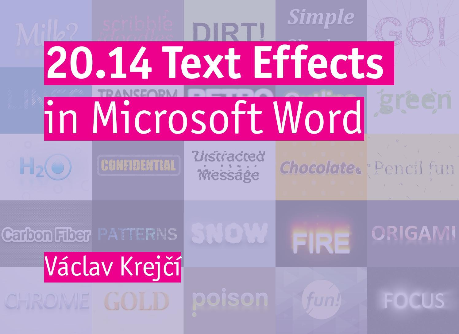 2014 text effects in microsoft word by vaclav krejci issuu biocorpaavc