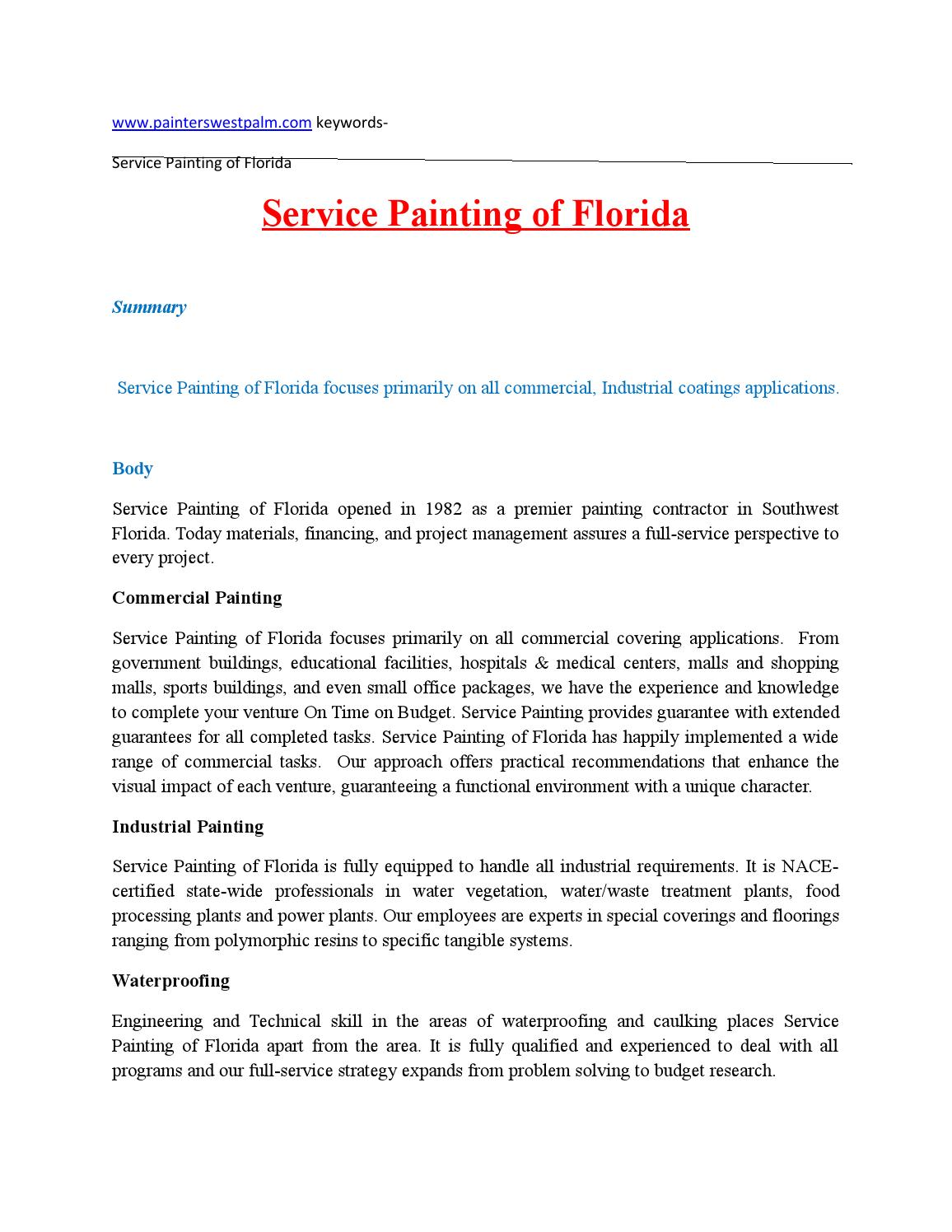 Service painting of florida by painterswestpalm issuu 1betcityfo Images