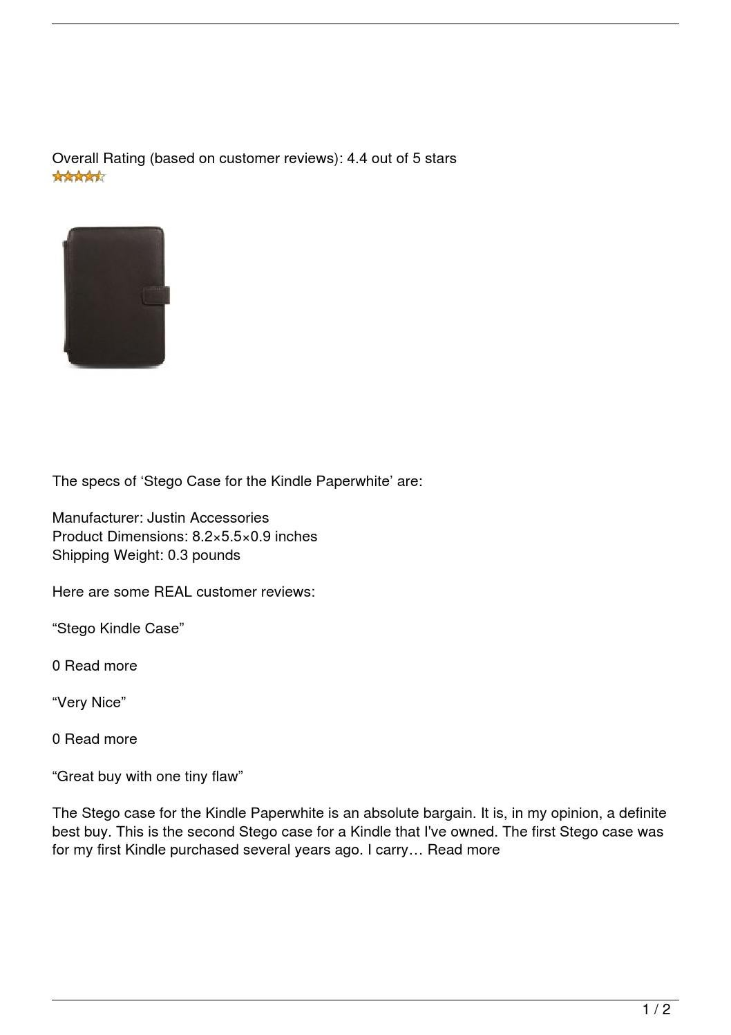 Stego Case for the Kindle Paperwhite Review by best product