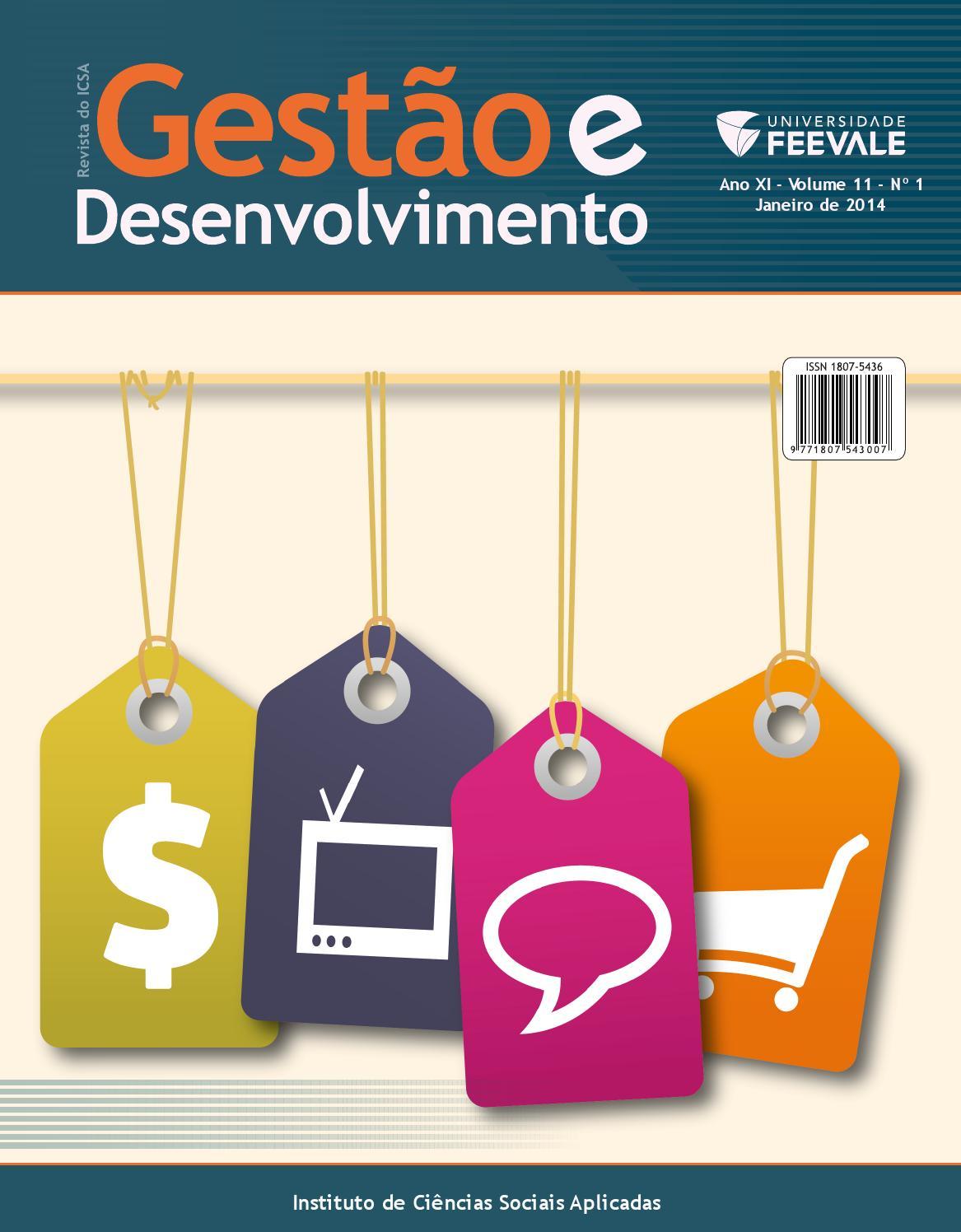 b713019c0fe Revista Gestão e Desenvolvimento   Janeiro 2014 by Universidade Feevale -  issuu