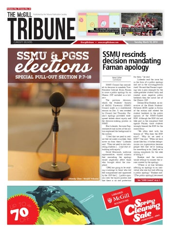 Mcgill tribune vol 33 issue 22 by the mcgill tribune issuu page 1 fandeluxe Image collections
