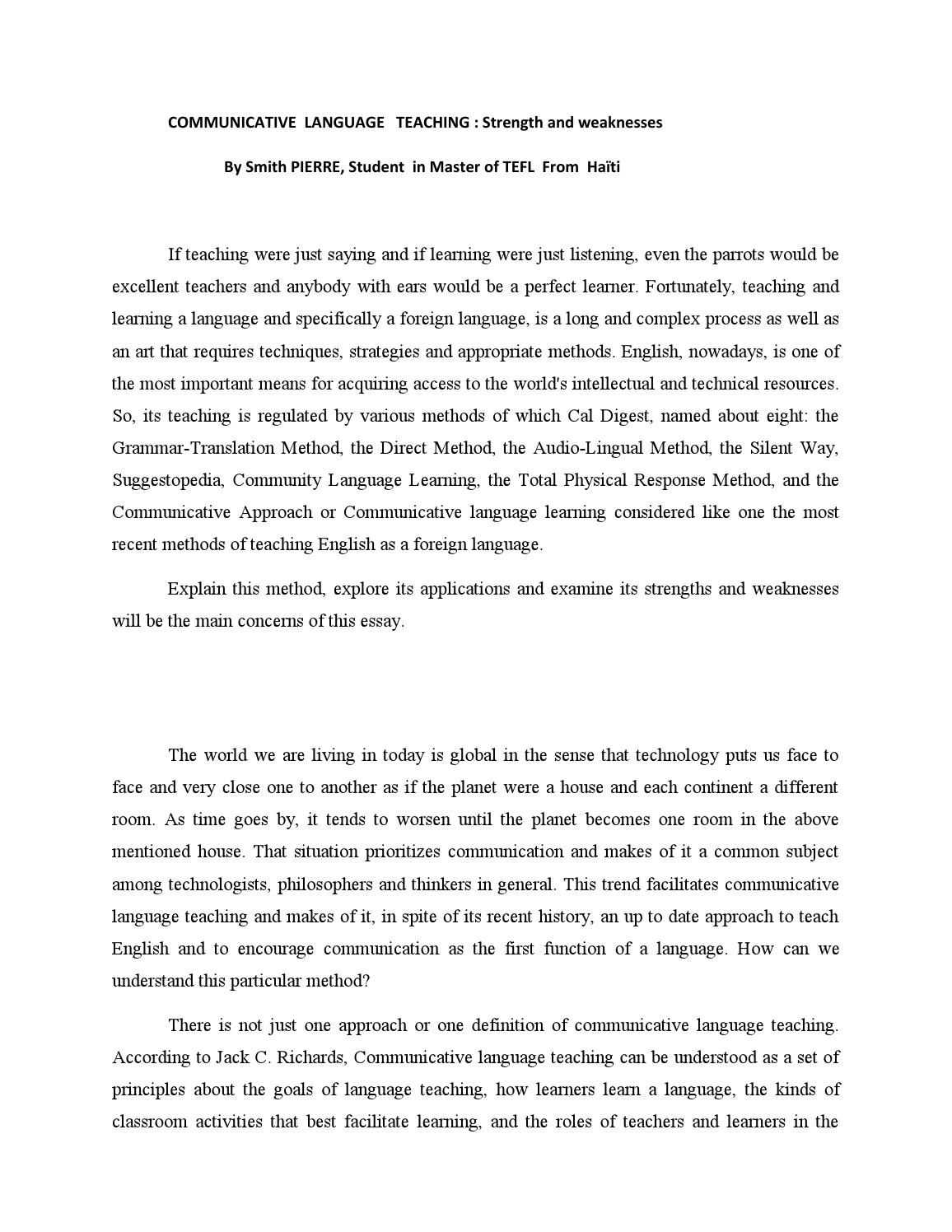 Essay On Arranged Marriage  James Joyce Essays also Science And Society Essay Communicative Language Teachingessay By Smith Pierre  Issuu Spare The Rod And Spoil The Child Essay