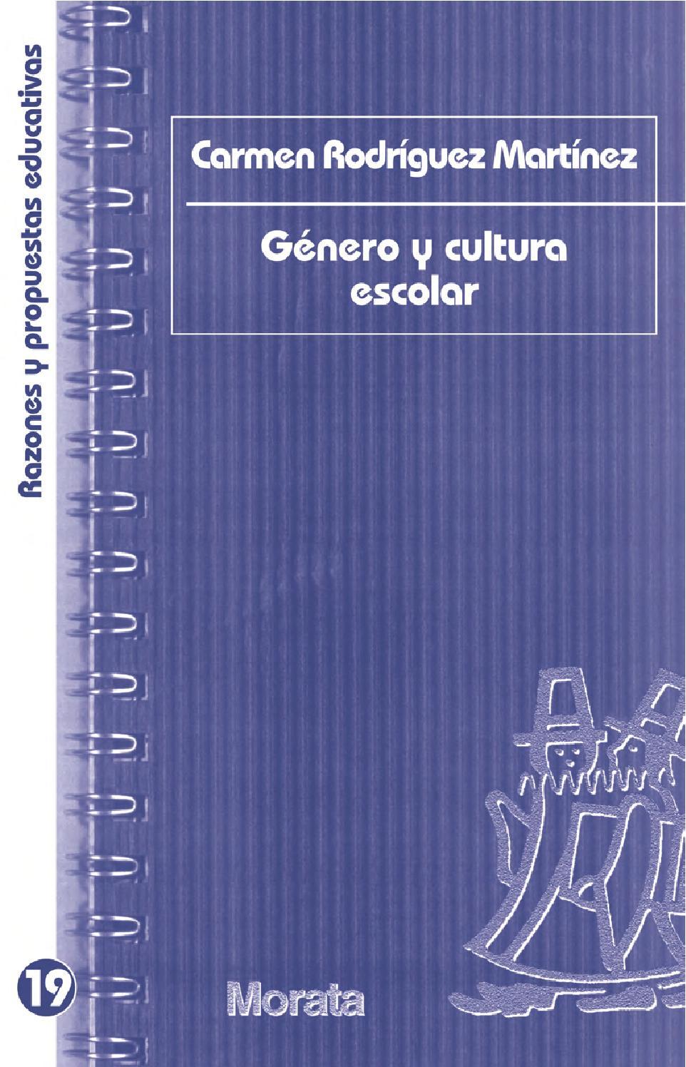 Género y cultura escolar by Ediciones Morata - issuu