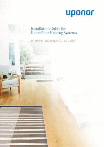 Uponor Underfloor Heating Design Guide: Underfloor heating install guide by Uponor UK - issuurh:issuu.com,Design