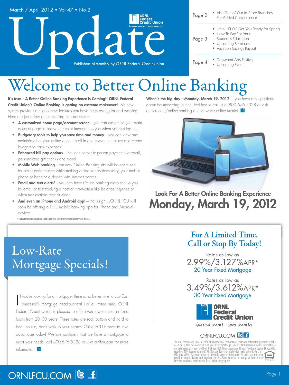 Ornl Update 2012 Vol 47 No 2 By Ornl Federal Credit Union Issuu