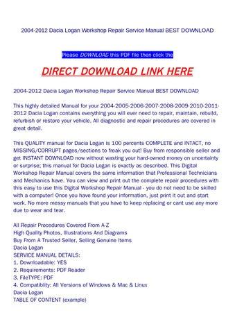 2004 2012 dacia logan workshop repair service manual best download 2004 2012 dacia logan workshop repair service manual best download asfbconference2016 Choice Image