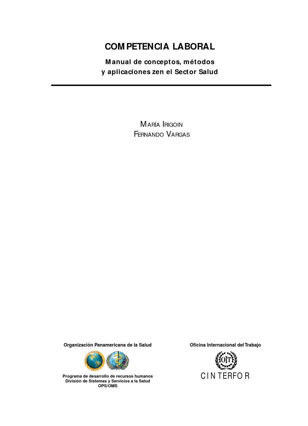 Competencia laboral maria irigoin y fernando vargas by Cristina de ...