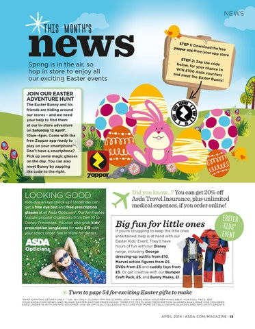 Asda magazine april 2014 by asda issuu page 13 negle Image collections