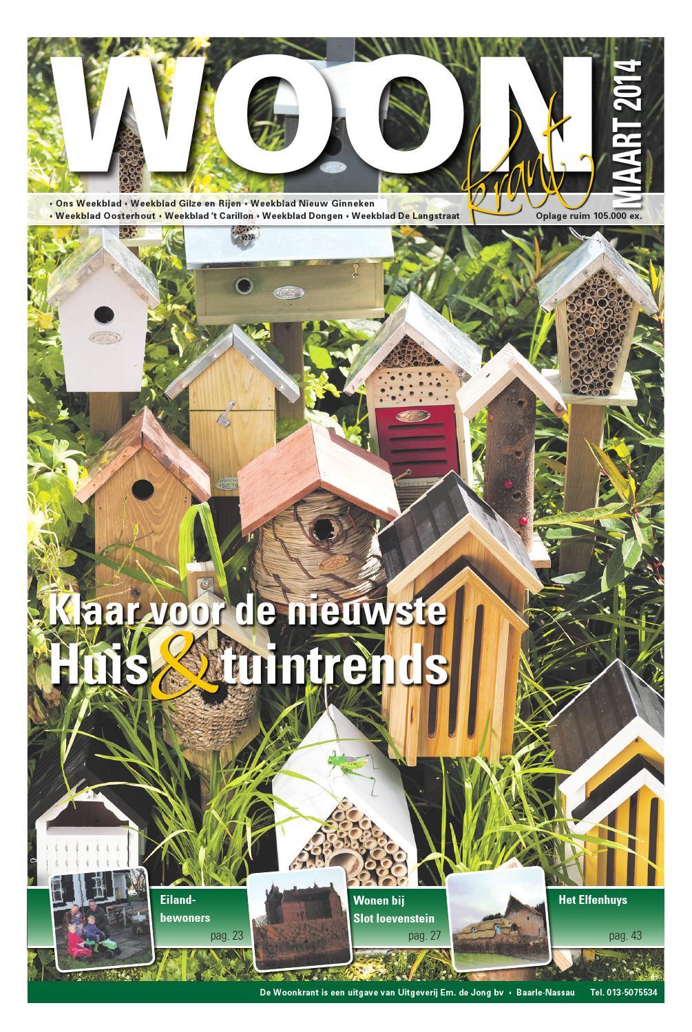 Woonkrant voorjaar 2014 editie west by uitgeverij em de for Nassau indus deur bv oosterhout
