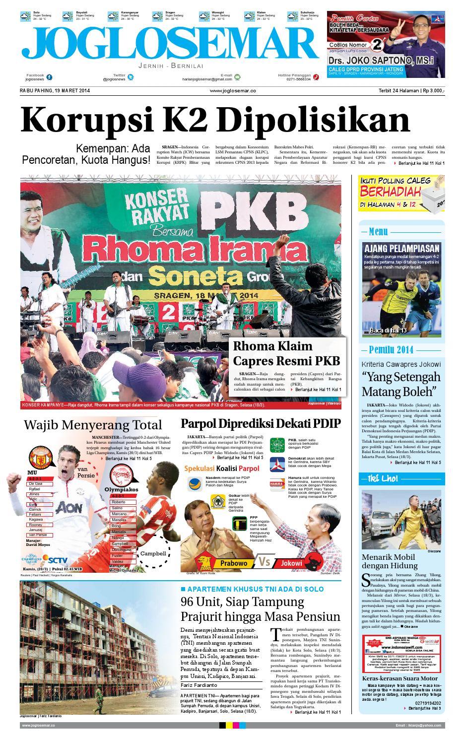 Epaper Edisi 19 Maret 2014 By PT Joglosemar Prima Media Issuu