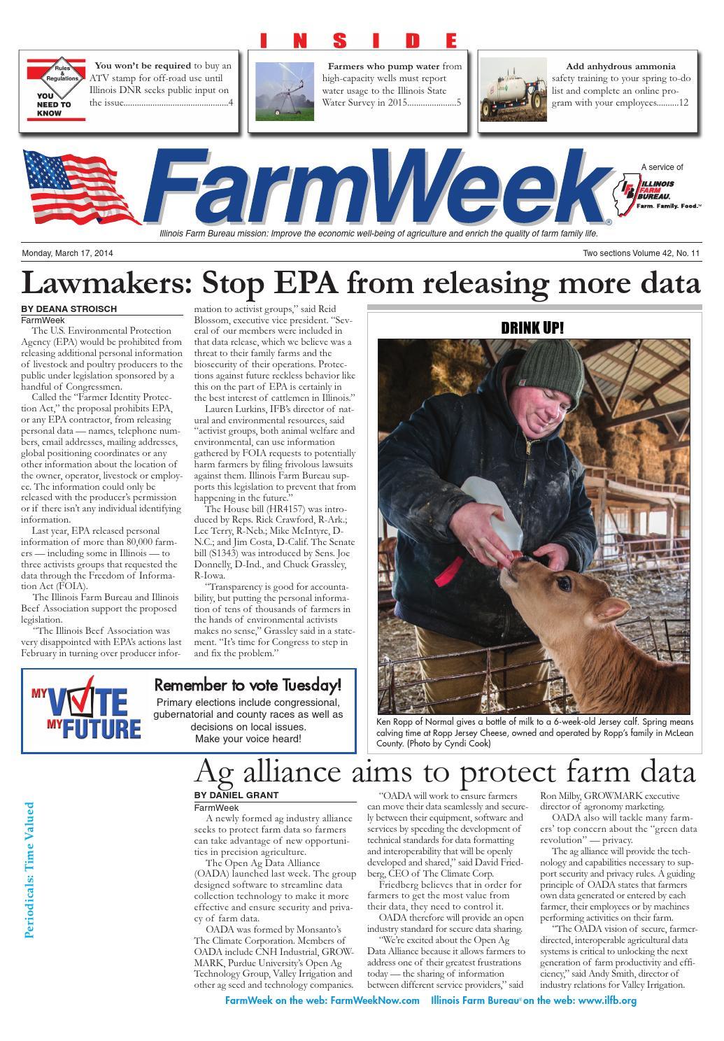Farmweek march 17, 2013 by Illinois Farm Bureau - issuu