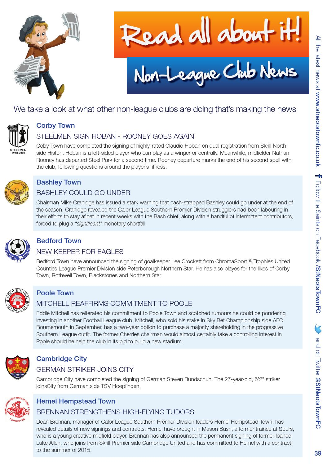 Saints vs Hungerford Town by St Neots Town Football Club - issuu