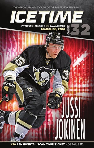 d1cb115f4 IceTime - Game 32 vs. Dallas Stars 3 18 14. IceTime is the official game  program of the Pittsburgh Penguins