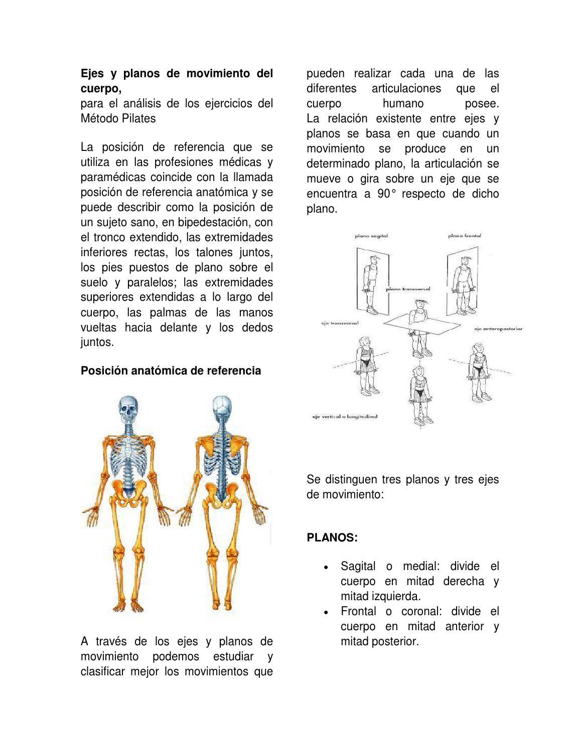 Ejes y planos de movimiento del cuerpo by chilisnan - issuu