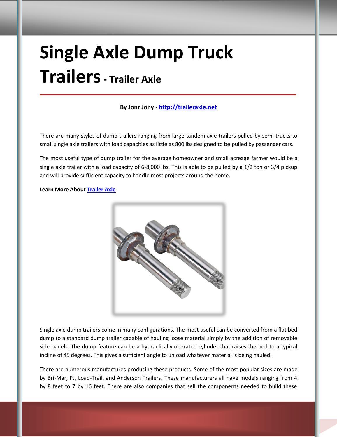 Trailer axle by vdfhrtjh - issuu