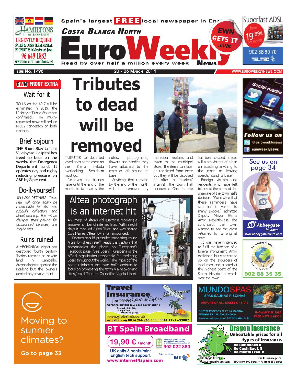 Euro Weekly News Costa Blanca North 20 26 March 2014 Issue  # Muebles Moedano