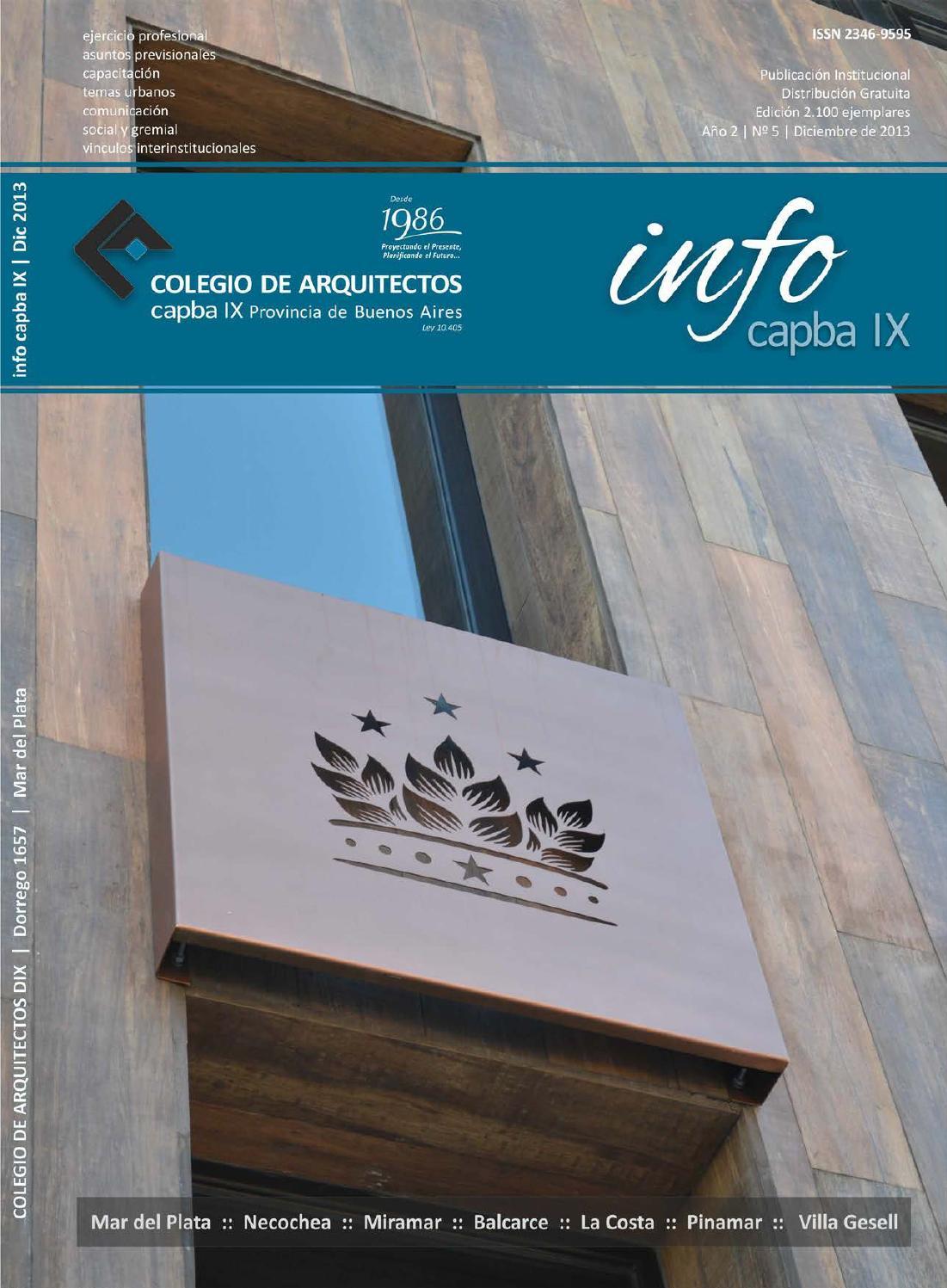 Info Capba Nº 5 By Colegio De Arquitectos De La Provincia De Buenos