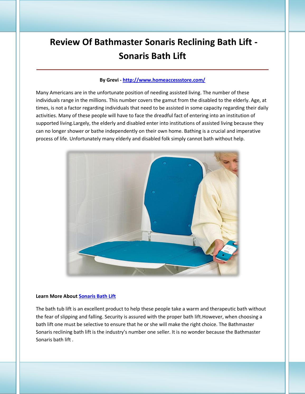 Sonaris bath lift by sonarisbathlift - issuu