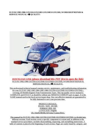 Suzuki Gsx 550 Инструкция - фото 7