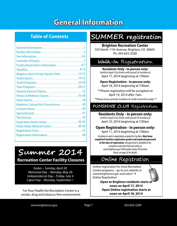 Activity Calendar Teen Center Registration 83