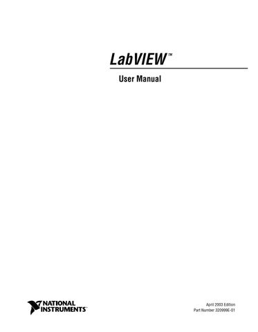 Labview user manual by Daniel Vela - issuu