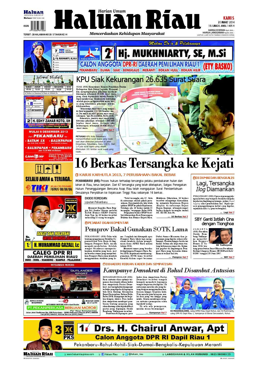 Haluanriau 2014 03 20 By Haluan Riau Issuu Produk Ukm Bumn Kue Sagu Ikan Haruan