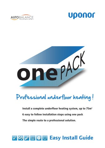 Uponor Underfloor Heating Design Guide: Uponor one pack easy install guide by Uponor UK - issuurh:issuu.com,Design