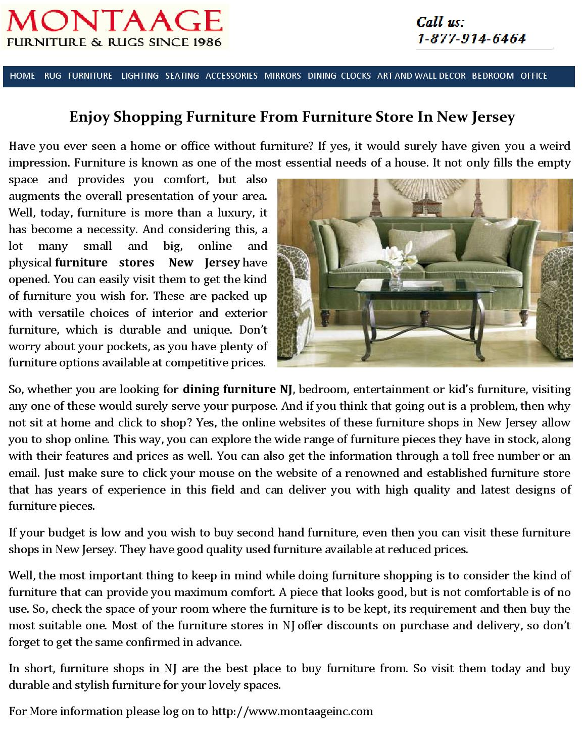 Furniture Store New Jersey By Montaage   Issuu