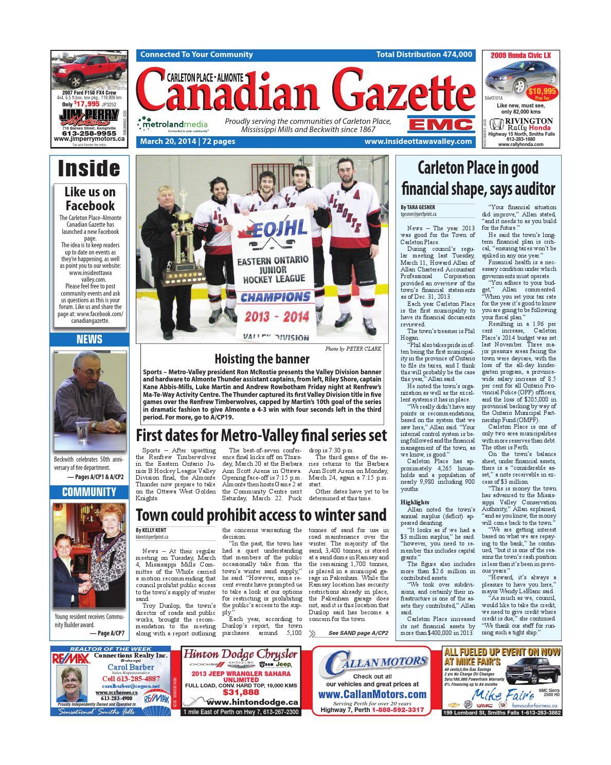 Almontecarletonplace032014 By Metroland East Almonte Carleton Place Canadian Gazette Issuu