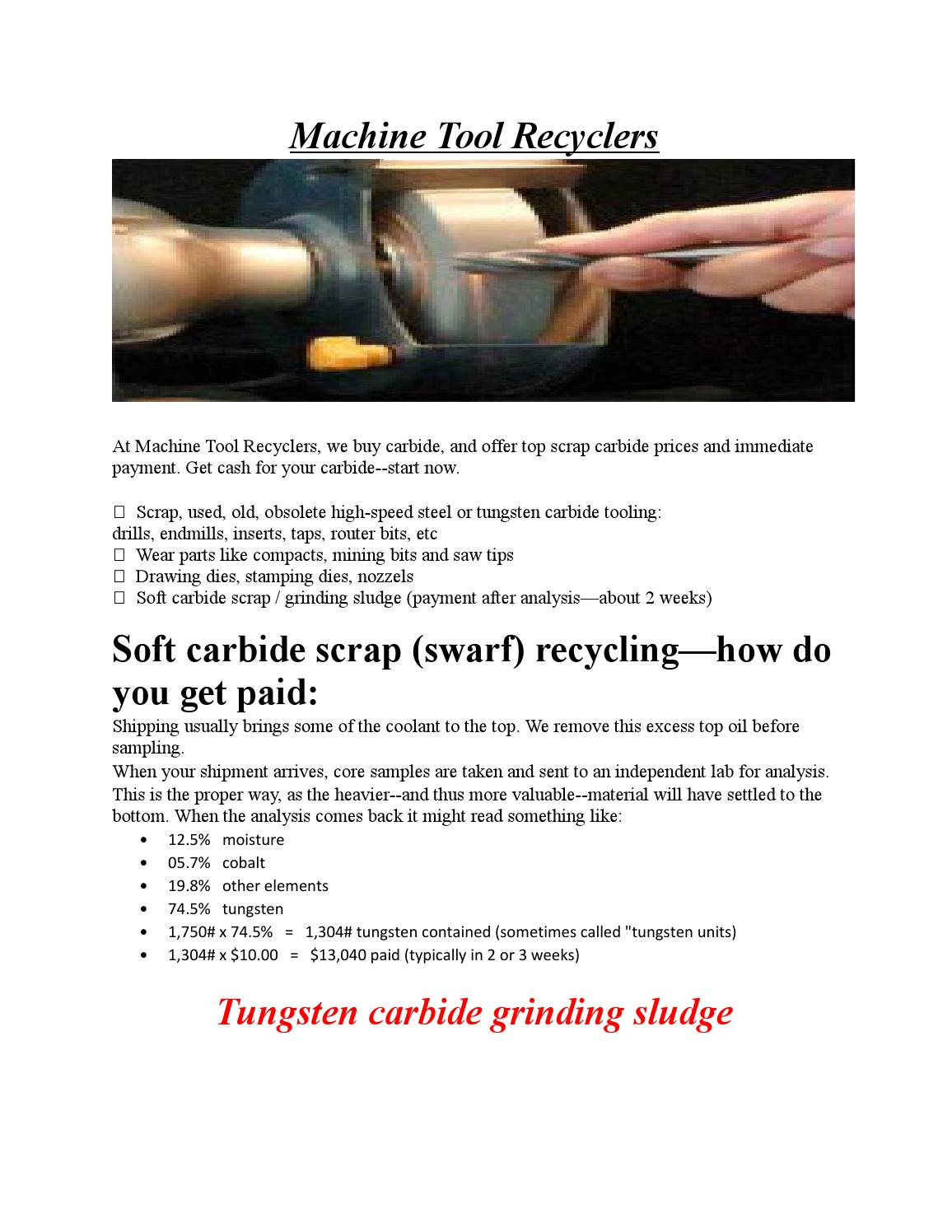 Tungsten carbide recycling by machinetoolrecyclers - issuu