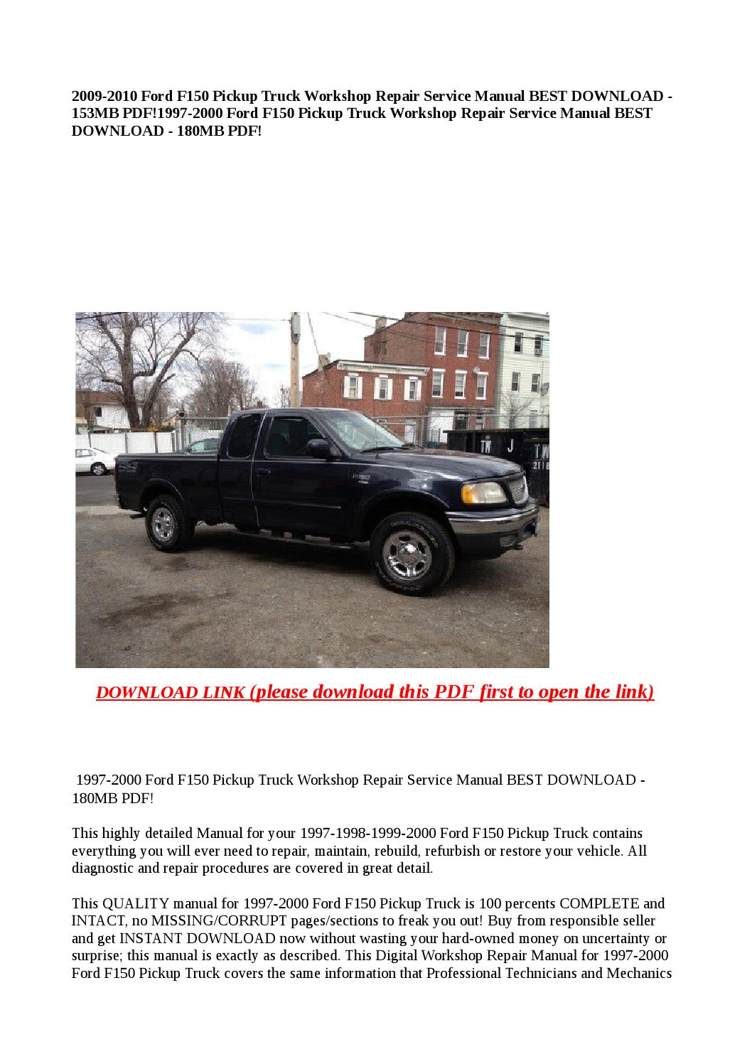 1997 2000 ford f150 pickup truck workshop repair service manual best  download 180mb pdf! by dale - issuu