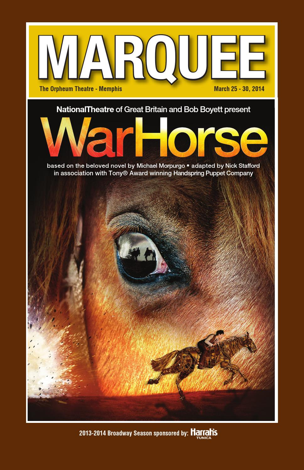 War Horse Marquee by Orpheum Theatre - issuu 772bf3431