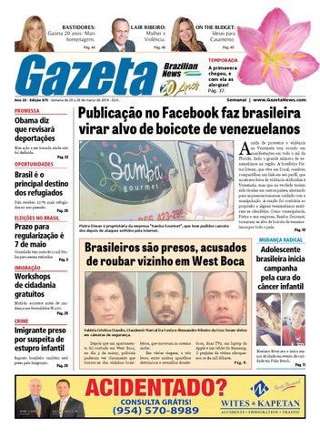 6ffa06f0b29a38 Edição 875 - De 20 a 26 de março de 2014. by Gazeta Brazilian News ...