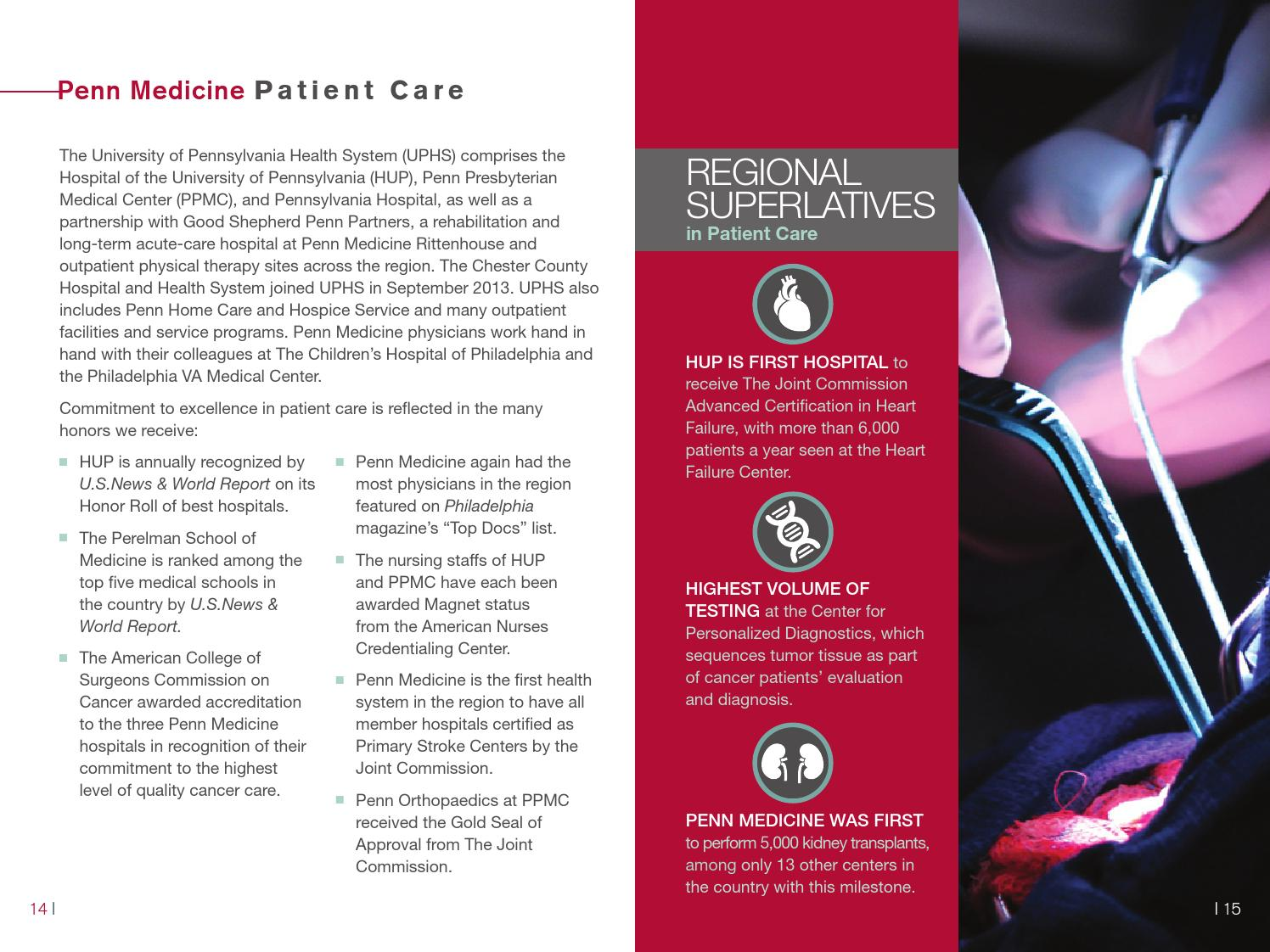 Penn Medicine Facts & Figures 2014 by Penn Medicine - issuu