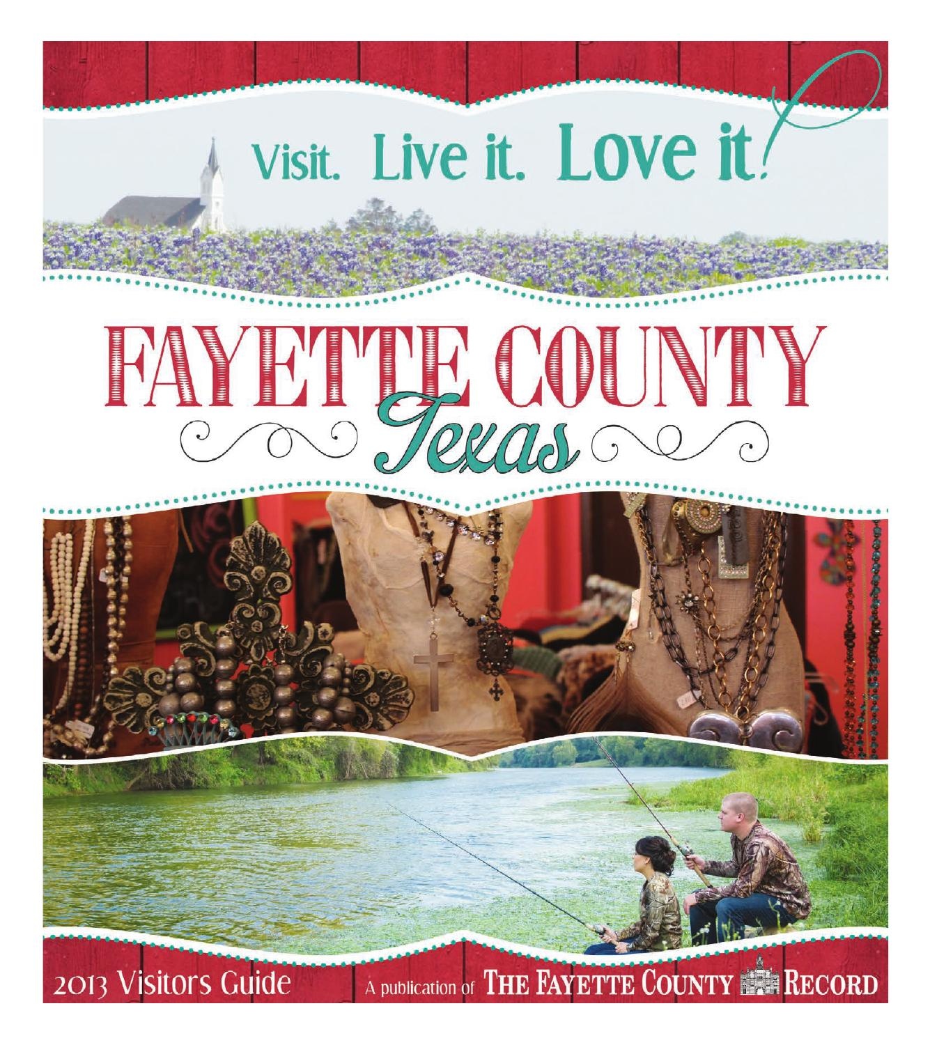 70ab0518b6 2013 Fayette County Visitors Guide by Jeff Wick - issuu