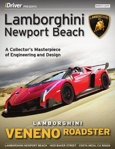 Lamborghini Newport Beach Magazine Issue 3 March 2014 Veneno