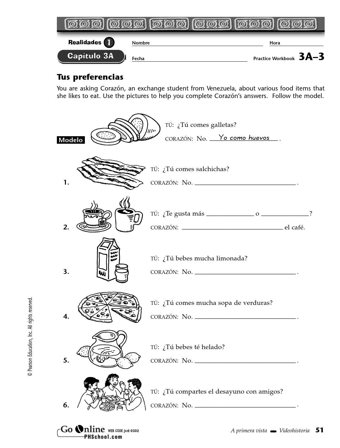 Workbooks realidades 2 capitulo 3a practice workbook answers : Wb 3a 3 by sramadge - issuu