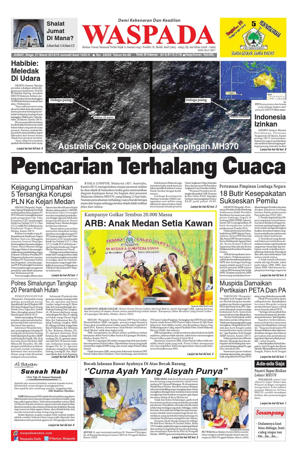 Waspada Jumat 21 Maret 2013 By Harian Issuu Rejeki Anak Soleh 3 Voucher Carrefour Rp 200000