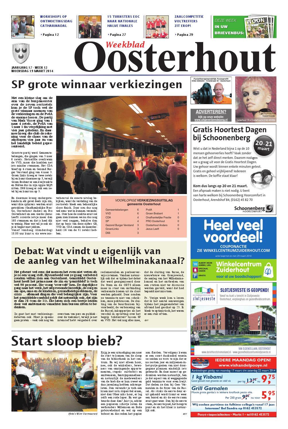 Weekblad oosterhout 19 03 2014 by uitgeverij em de jong for Nassau indus deur bv oosterhout