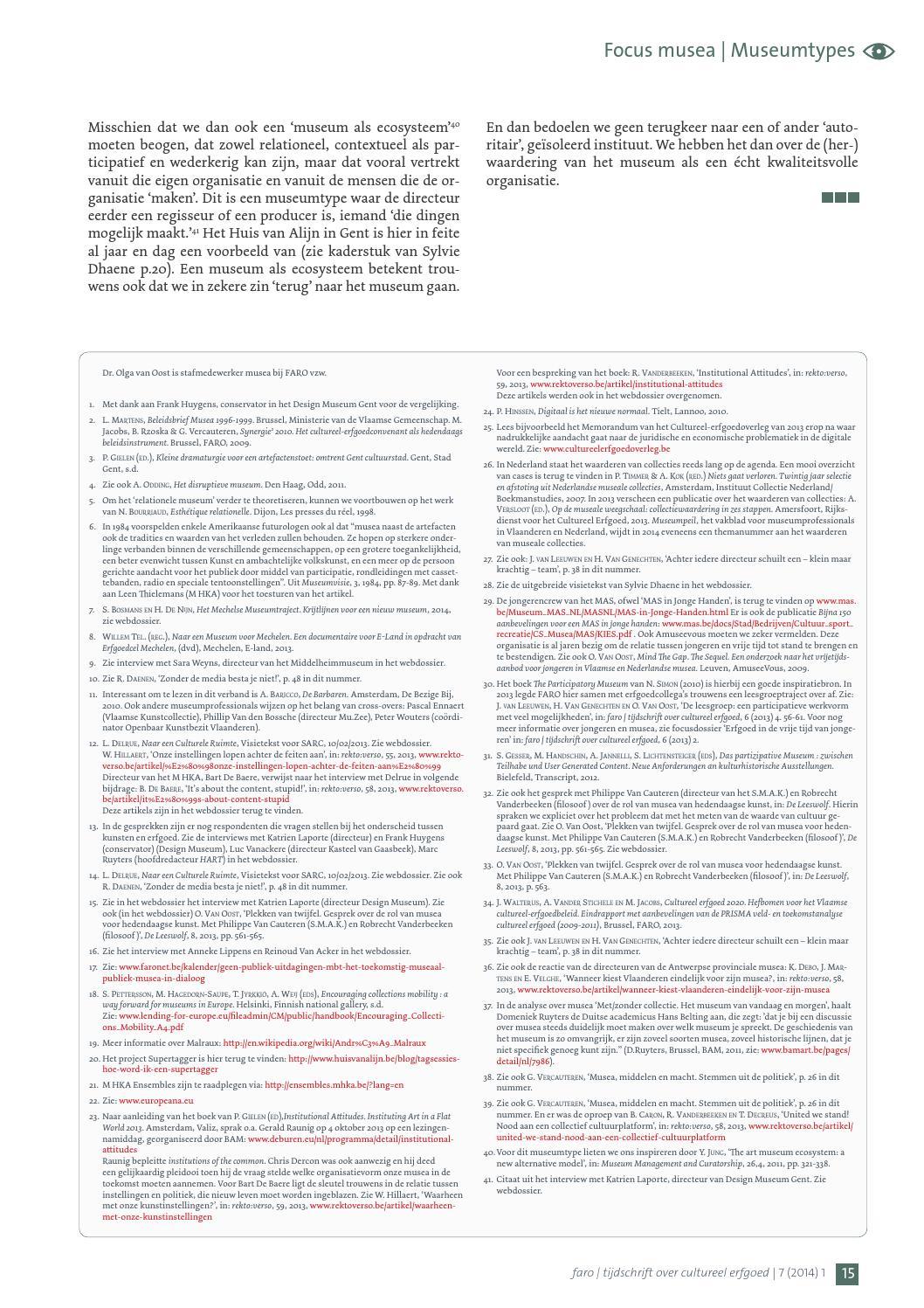 Faro Tijdschrift Over Cultureel Erfgoed 720141 By Faro Faronet