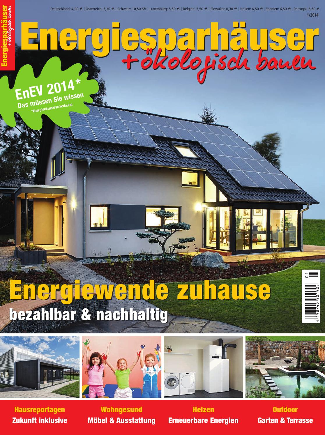 Energiesparhäuser + ökologisch bauen 1/2014 by Family Home Verlag ...