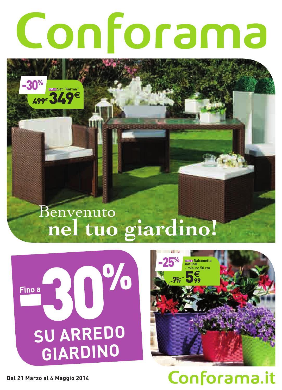 Conforama garden 2014confo by catalogofree issuu for Conforama arredo giardino