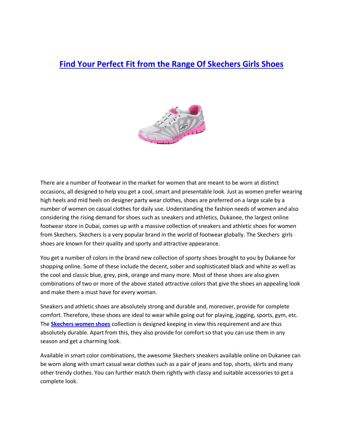6ada195e612 Find Your Perfect Fit from the Range Of Skechers Girls Shoes by Dukanee -  issuu