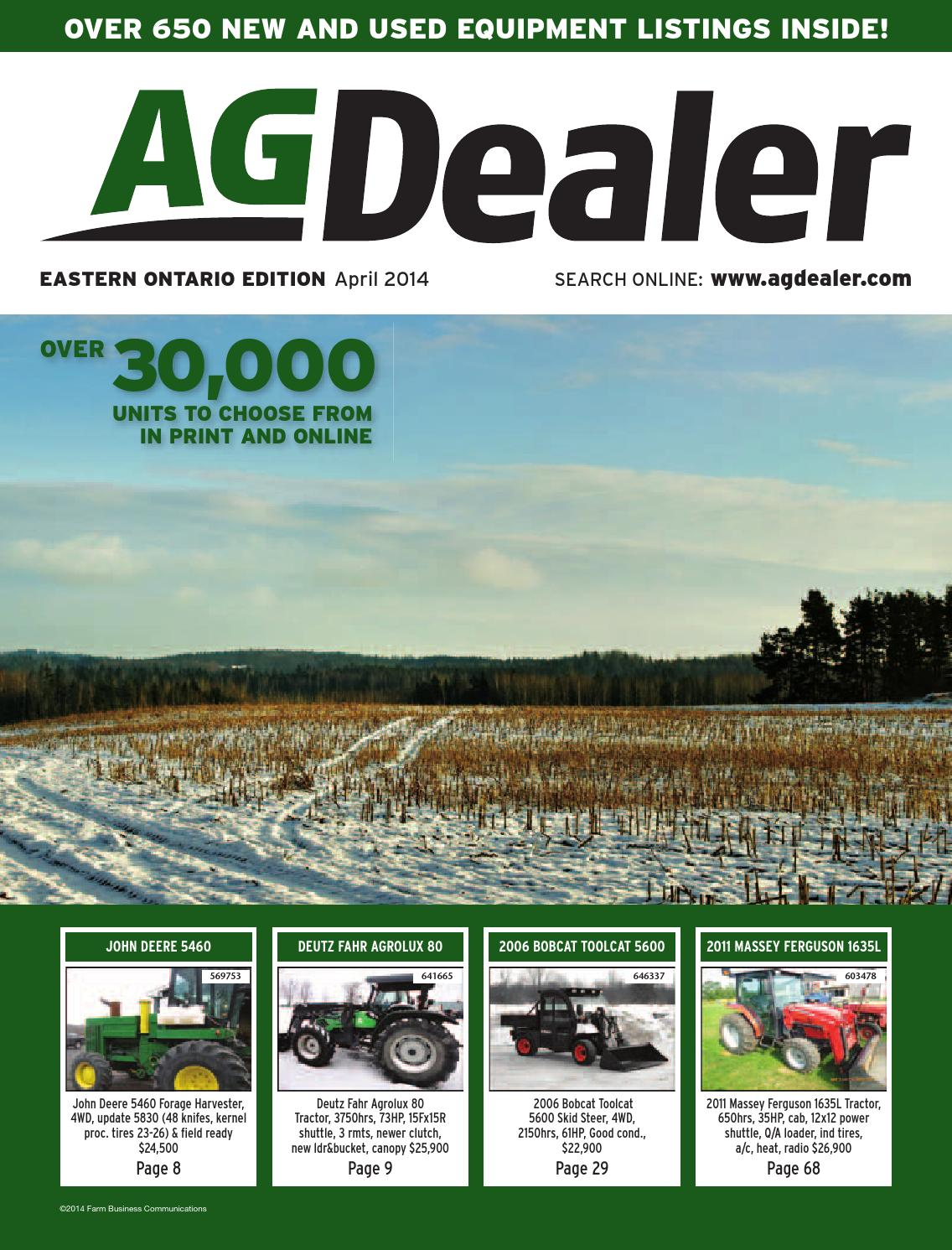 AGDealer Eastern Ontario Edition, April 2014 by Farm Business ...