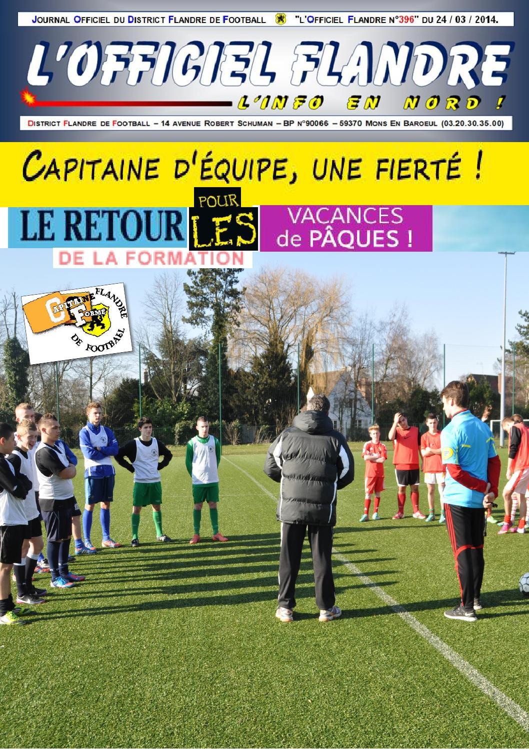 Portail Des Flandres Salome le journal du district flandre de football n°396 du 24 mars