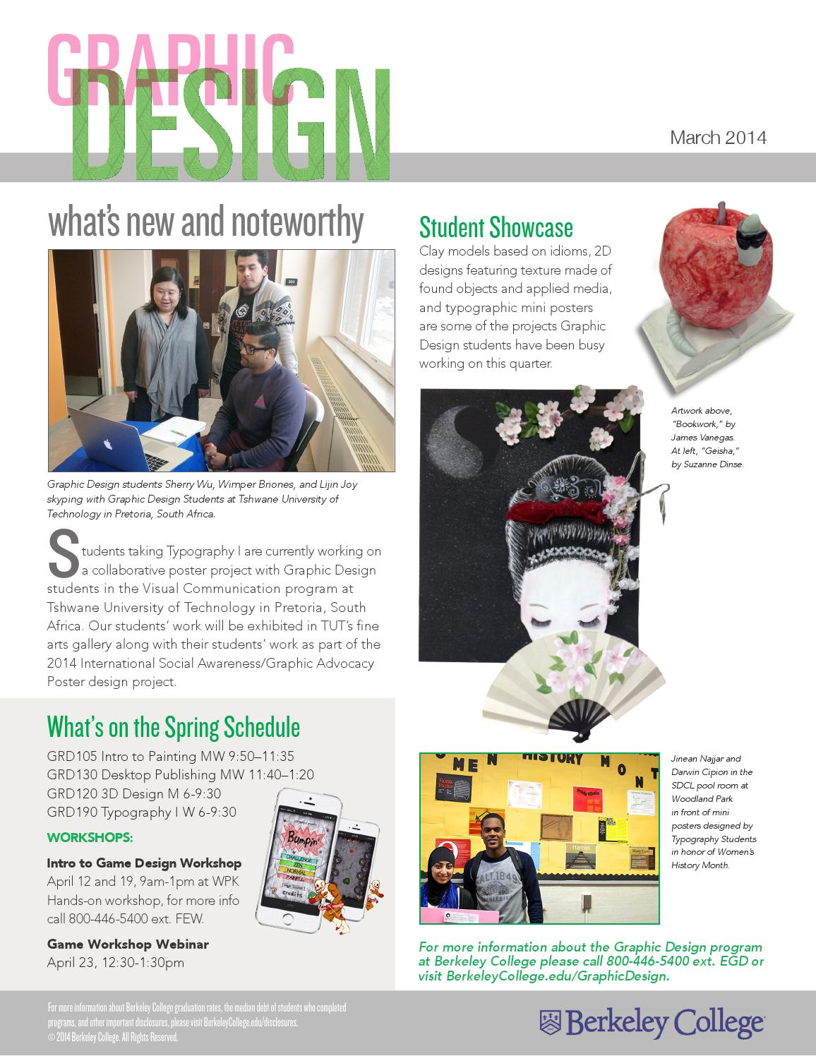 Incredible Graphic Design Newsletter By Berkeley College Issuu Home Remodeling Inspirations Genioncuboardxyz