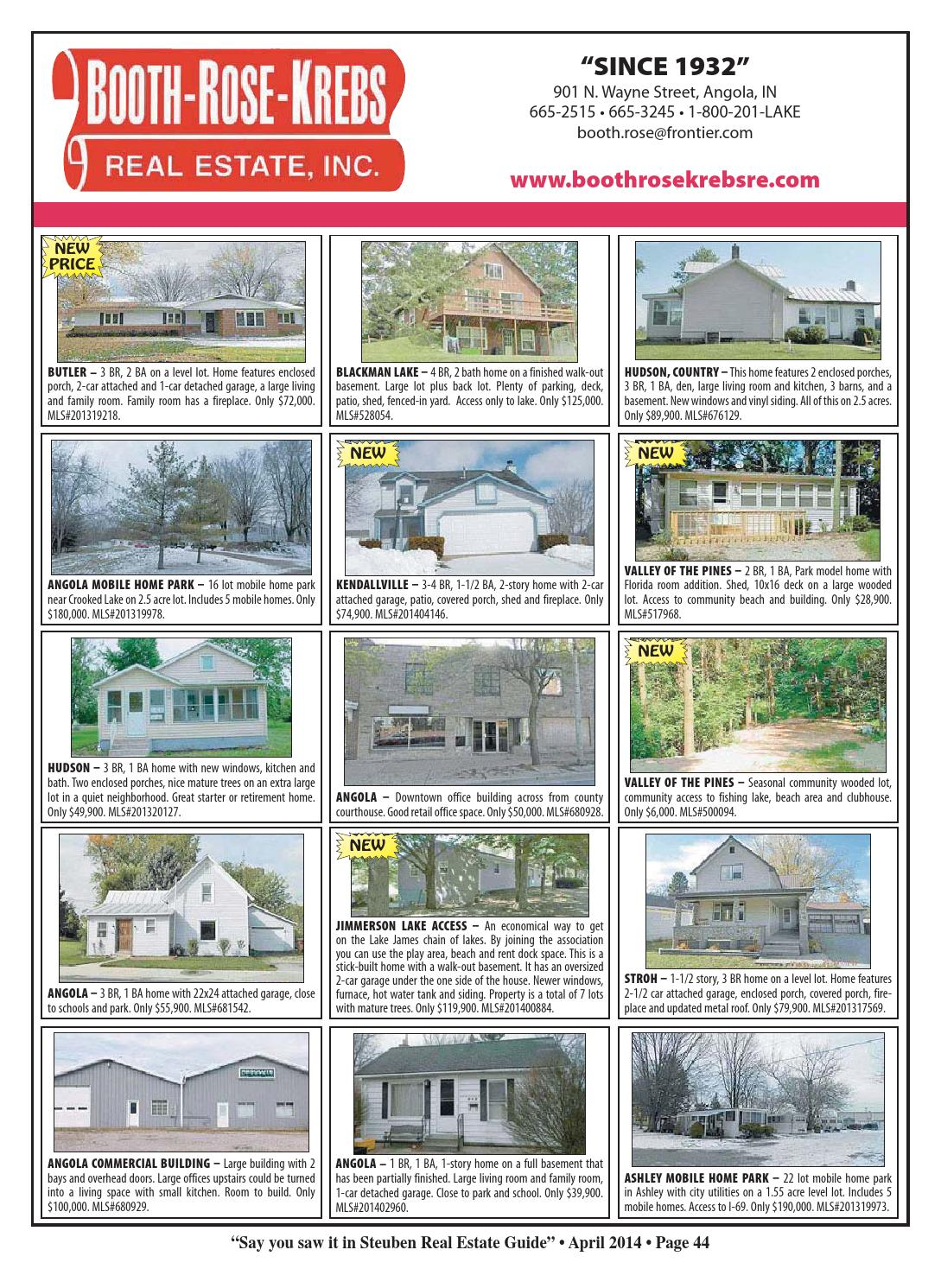 Steuben County Real Estate Guide - March 2014