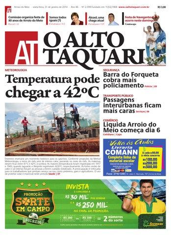 eaf193600f Jornal O Alto Taquari - 31 de janeiro de 2014 by Jornal O Alto ...