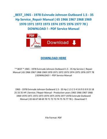 page_1_thumb_large best 1965 1978 evinrude johnson outboard 1 5 35 hp service repair 1972 evinrude 65 hp wiring diagram at aneh.co