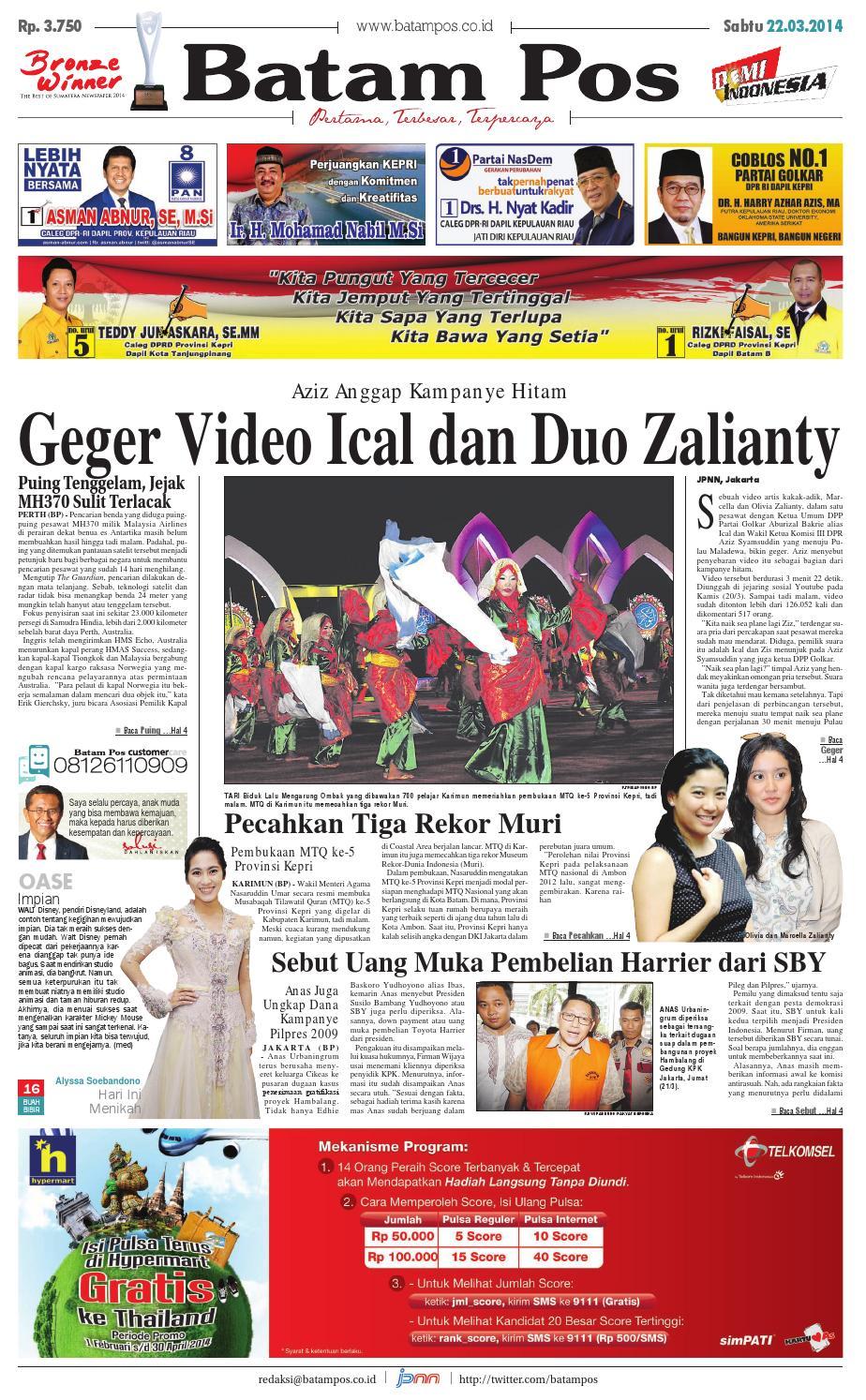 22 Maret 2014 By Batampos Newspaper Issuu Produk Umkm Bumn Bolu Gulung Hj Enong